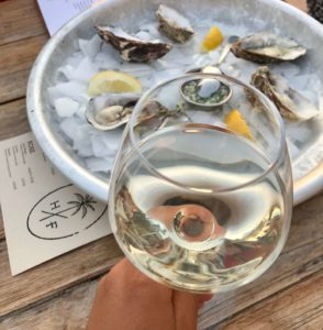 oysters and white wine