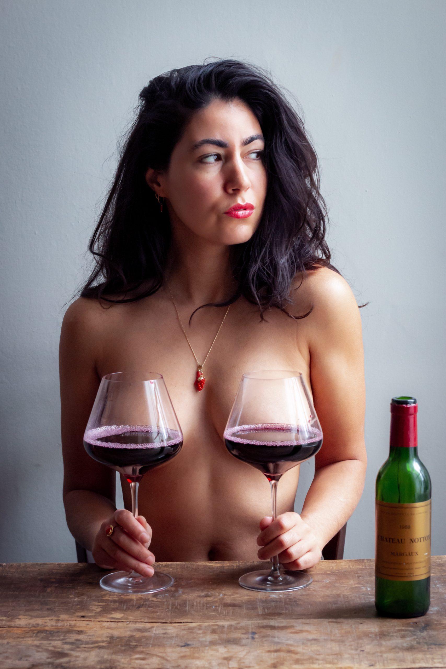 Wine boob poster