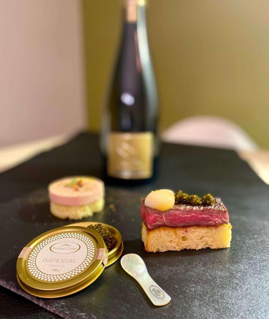 caviar and champagne