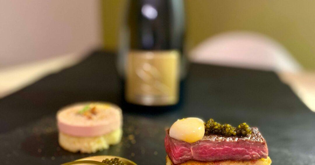 caviar en champagne