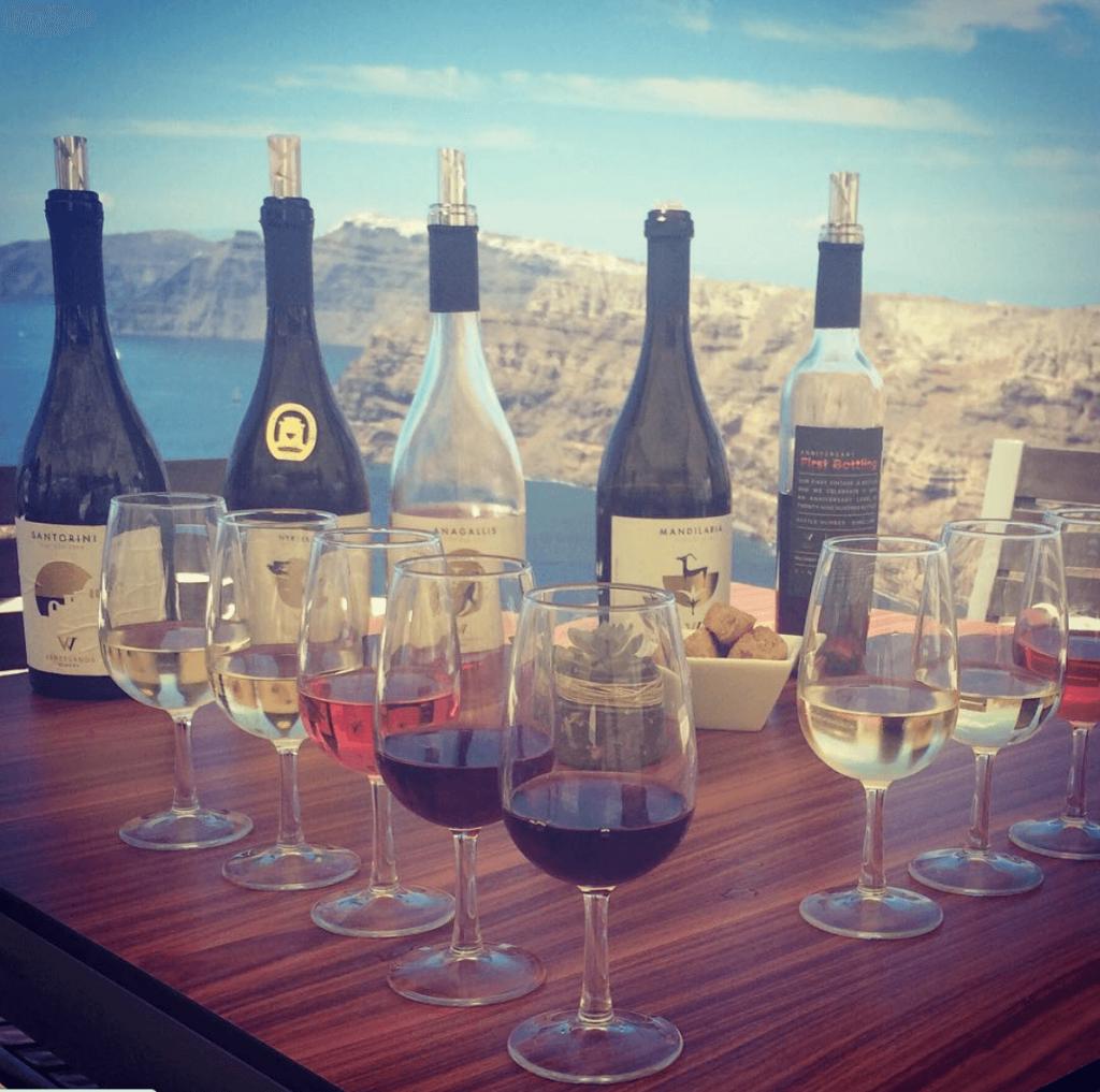 Santorini wijnproeven